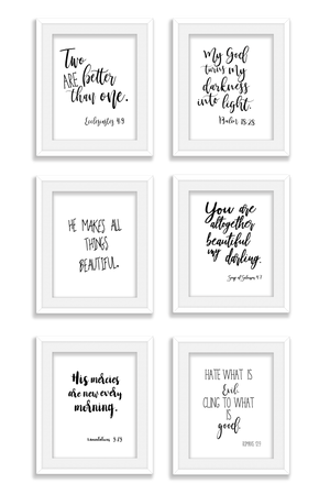 26 Black & White Wall Signs