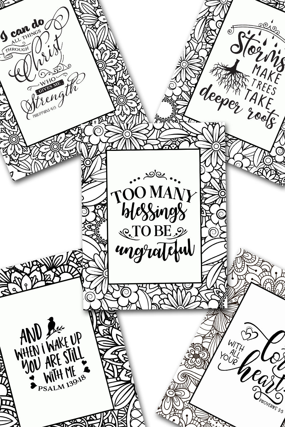 Scripture Coloring Pack #1 {5 pages}