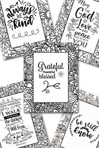 Scripture Coloring Pack #2 {5 pages}
