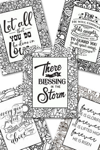 Scripture Coloring Pack #3 {5 pages}