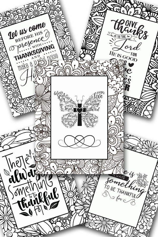 Scripture Coloring Pack #4 {5 pages}