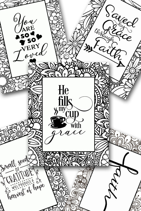 Scripture Coloring Pack #10 {5 pages}