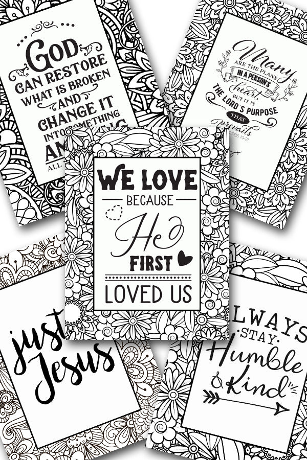 Scripture Coloring Pack #5 {5 pages}