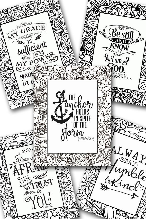 Scripture Coloring Pack #6 {5 pages}