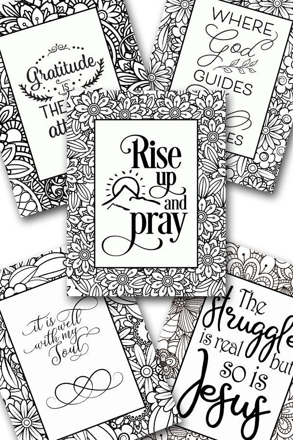 Scripture Coloring Pack #8 {5 pages}