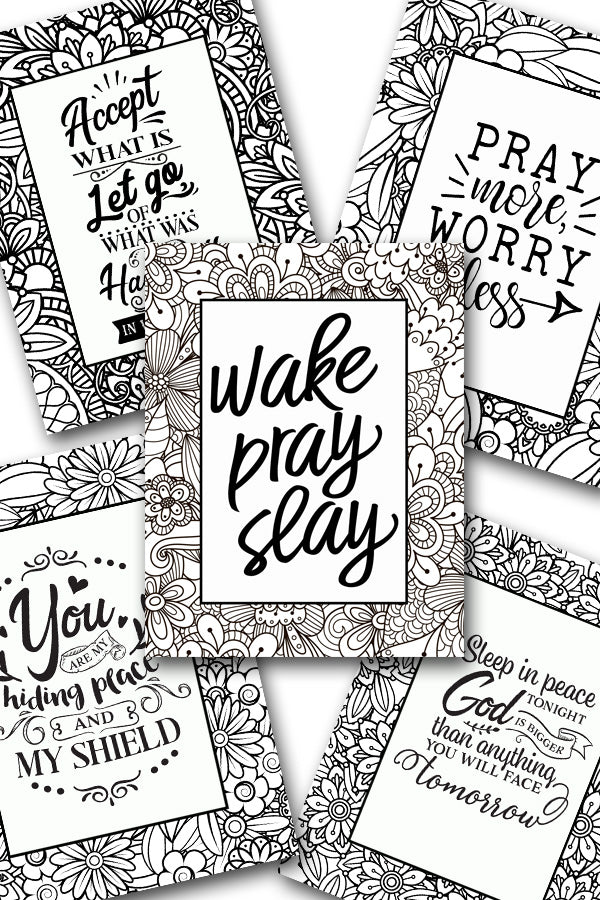 Scripture Coloring Pack #9 {5 pages}