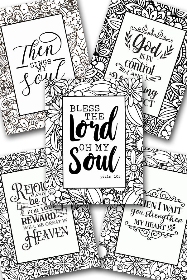 Scripture Coloring Pack #7 {5 pages}