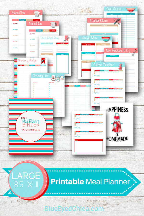 Meal Planning Binder {30+ pages}