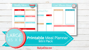 Menu Planning Binder - Mini Pack