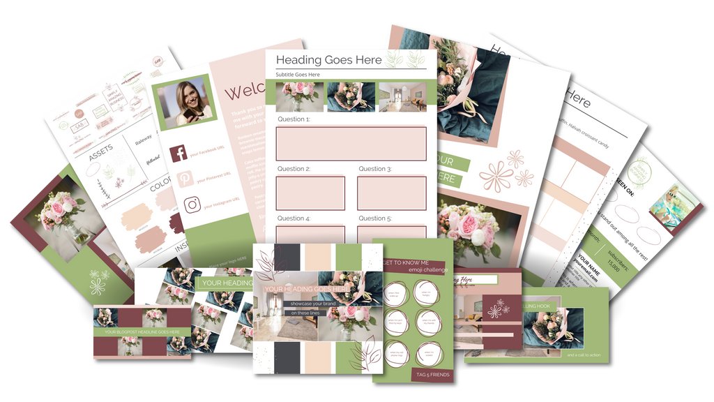 Ultimate Branding and Social Media Toolkit - Soft Floral
