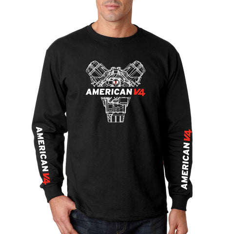 American V4 long sleeve t-shirt