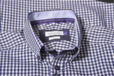 2904102 - Purple Bow 41 Slim Fit - Navy Check (601)