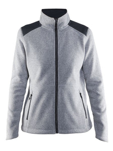 1904588 - Noble zip fleece jacket woman - Grey melange (2950)