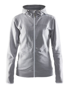 1901693 - Leisure full zip hood Woman - Grey melange (2950)