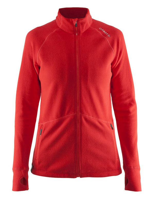1904594 - Micro fleece full zip woman -Bright red (1430)