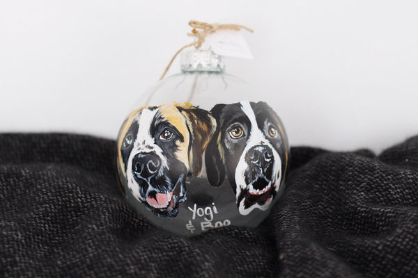 Custom Double Pet Ornament