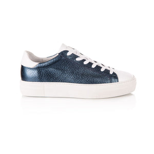 Roxy Navy Metallic Platform Trainers