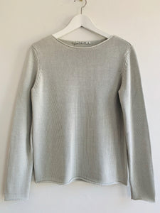 15500 Round Neck Cotton Sweater Ice