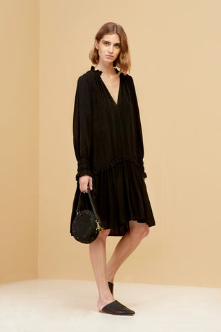 Mylo Shirt Dress Black