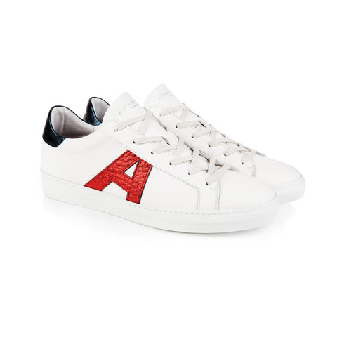 Cru Signature White, Red, & Blue Trainers