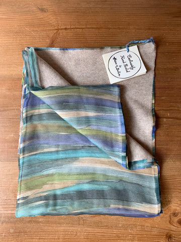 Landscape Silk and Cashmere Scarf