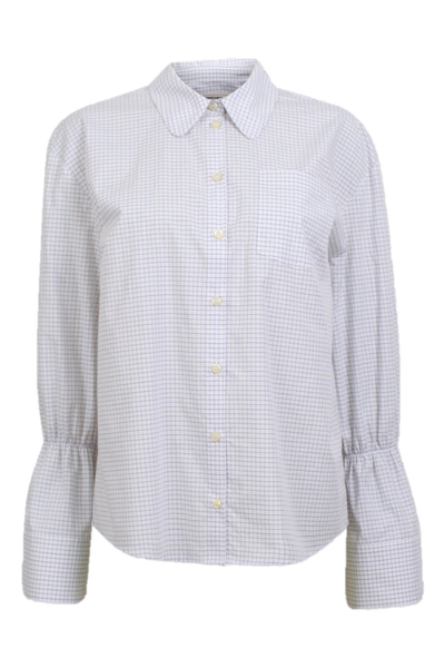 Marillo Shirt White and Blue Grid