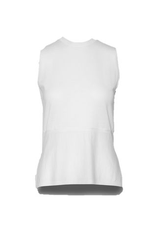 Twinset Sleeveless Top White Merino Wool