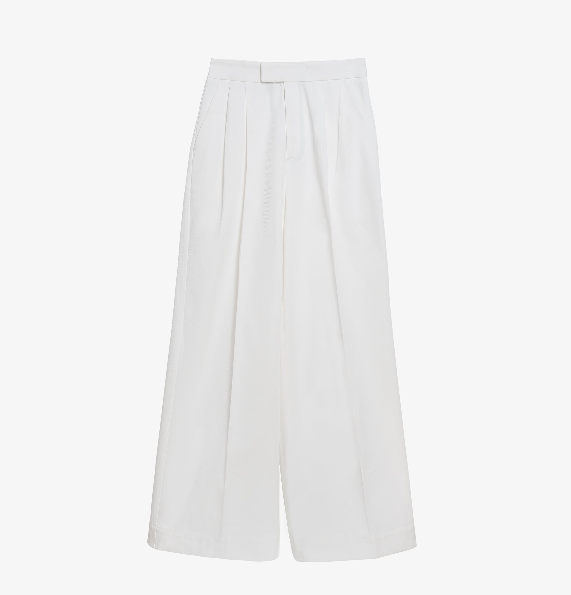 Joplin Flared Cotton Pants White