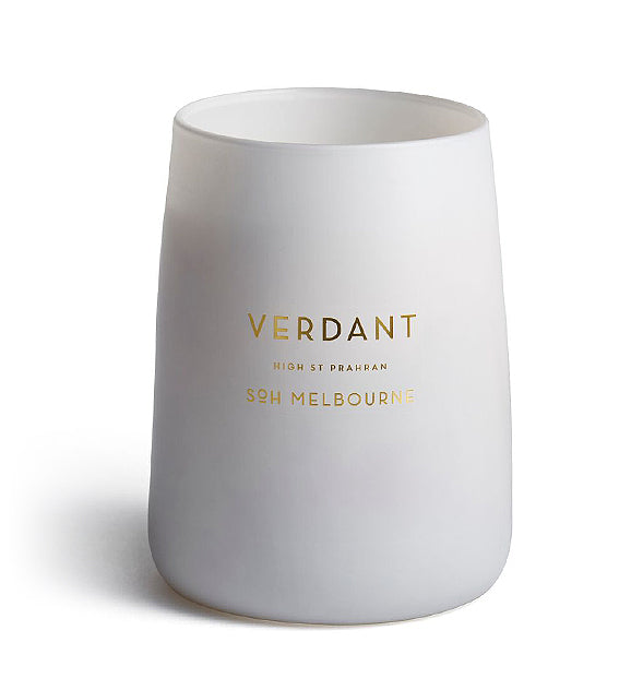 Verdant White Matte Glass Candle