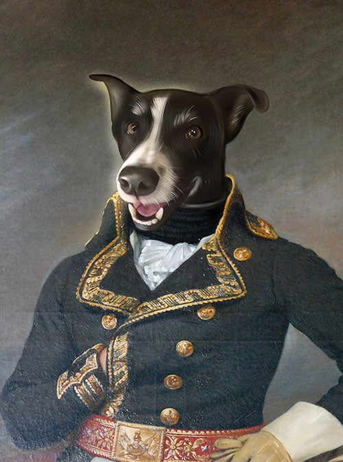 The Admiral - Your Pet Here: Custom Pet Painting