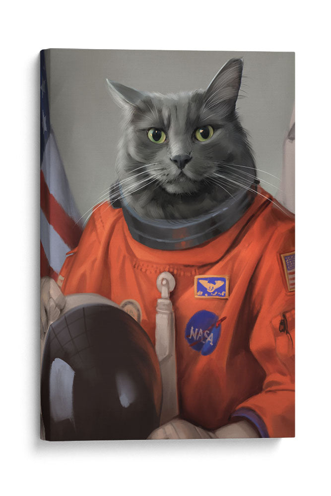 The Astronaut - Your Pet Here: Custom Pet Painting