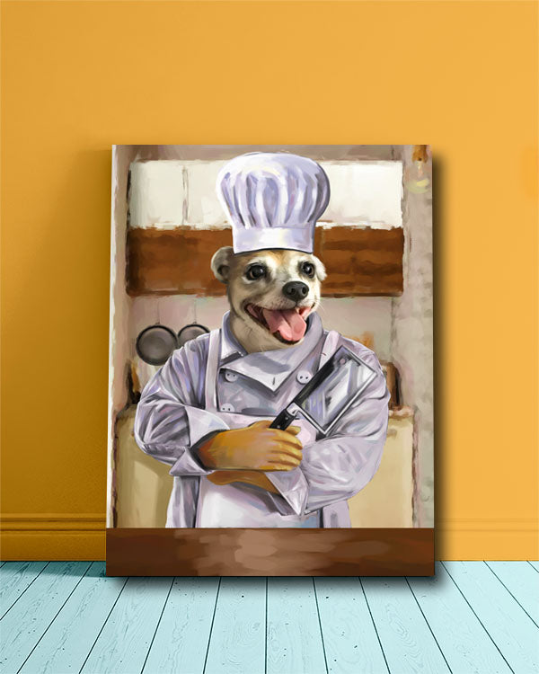 Happy Chef Doggo Custom Pet portrait.