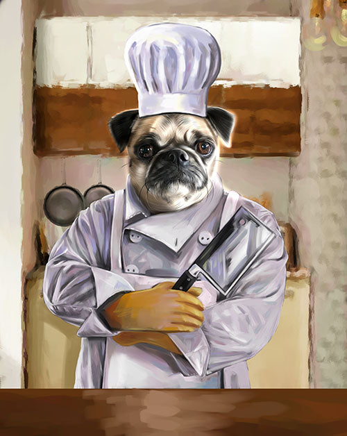 The Top Chef - Your Pet Here: Custom Pet Painting