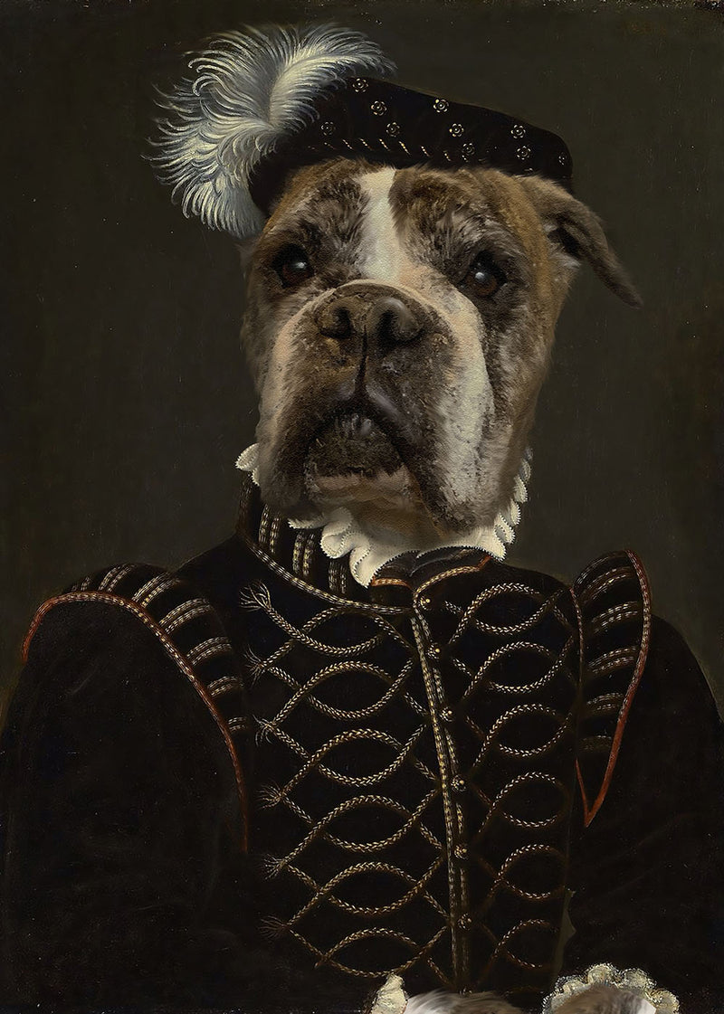 Classy Nobel Custom Royal Themed Dog Portrait