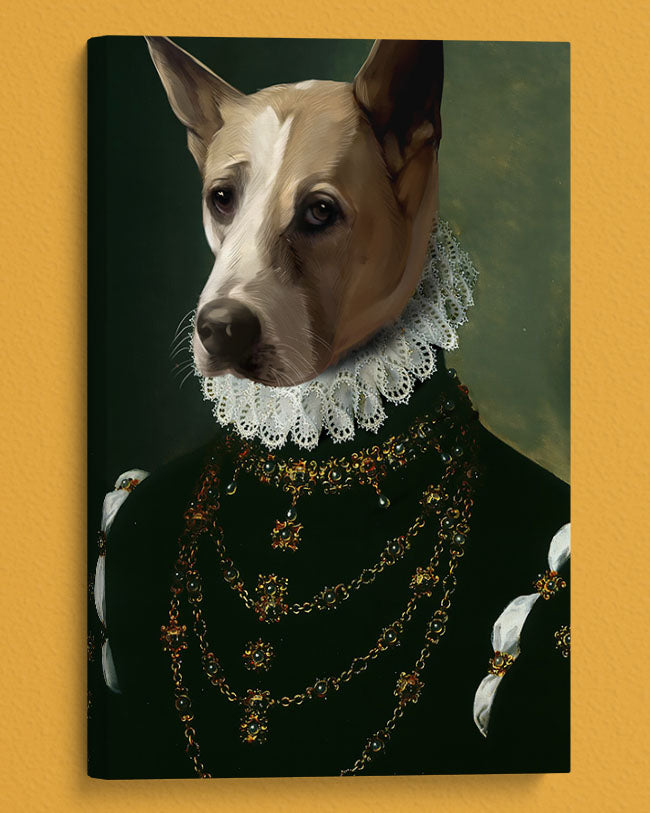 Turn Your Dog into the Dame Royal Pet Portrait