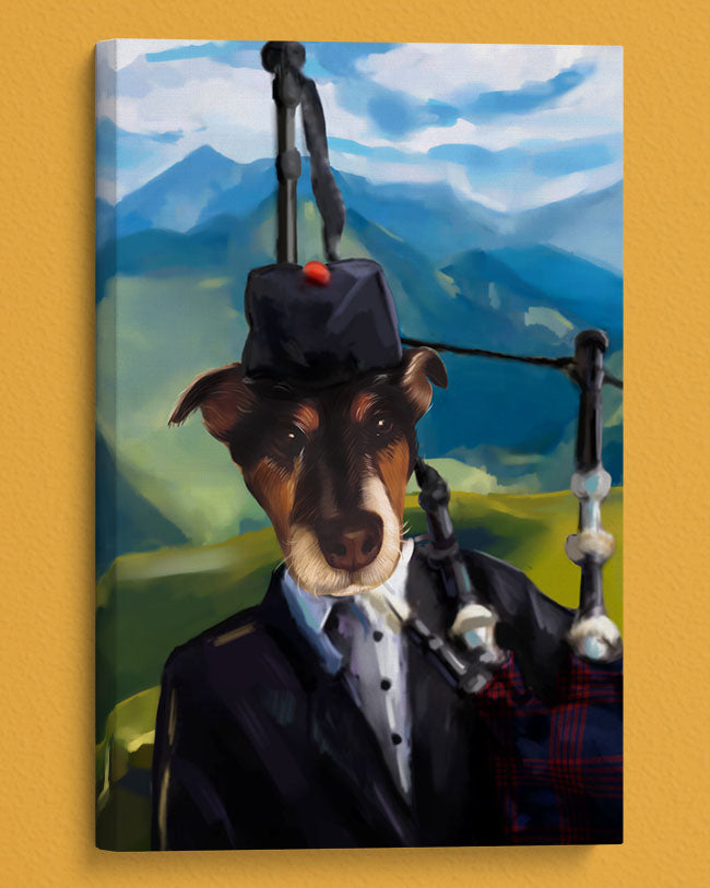 Artistic Personalized Pet Portrait the Irishman