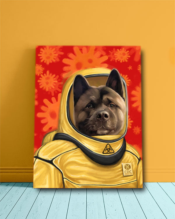 Pandemic Edition Hazmat Pet - Custom Pet Painting