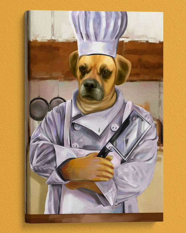 Hilarious Personalized Chef Pet gift portrait