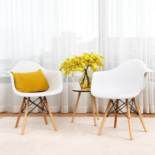 Load image into Gallery viewer, Set of 2 Mid-Century Dining Arm Chairs with Wood Legs Chairs Dining Room Modern HW58942-2 - piperandfox