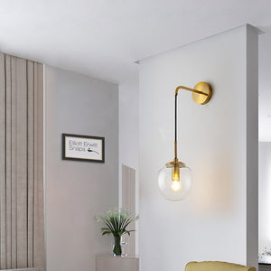 Nordic Modern Vintage LED Wall Lamp Glass Ball Bathroom Mirror Beside Lamps Indoor American Retro Wall Light Sconce Wandlamp - piperandfox