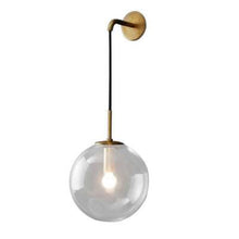 Load image into Gallery viewer, Nordic Modern Vintage LED Wall Lamp Glass Ball Bathroom Mirror Beside Lamps Indoor American Retro Wall Light Sconce Wandlamp - piperandfox