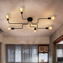 Load image into Gallery viewer, Modern iron industrial painted Nordic Ceiling Lights E27 Plafonnier LED ceiling Lamp Luminaire For Living Room bedroom study bar - piperandfox