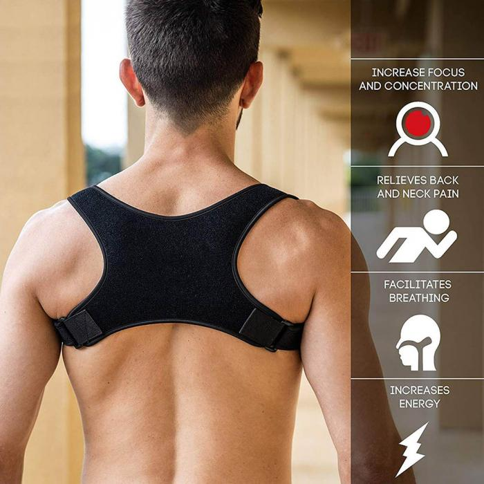 Posture Corrective Back Brace for Men and Women - One Size Fits All