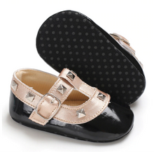 Load image into Gallery viewer, Black Baby RockStub Valentino Shoes Valen-Tiny