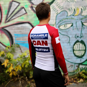 SCRAMBLE TEAM CANADA RASHGUARD – LADIES CUT