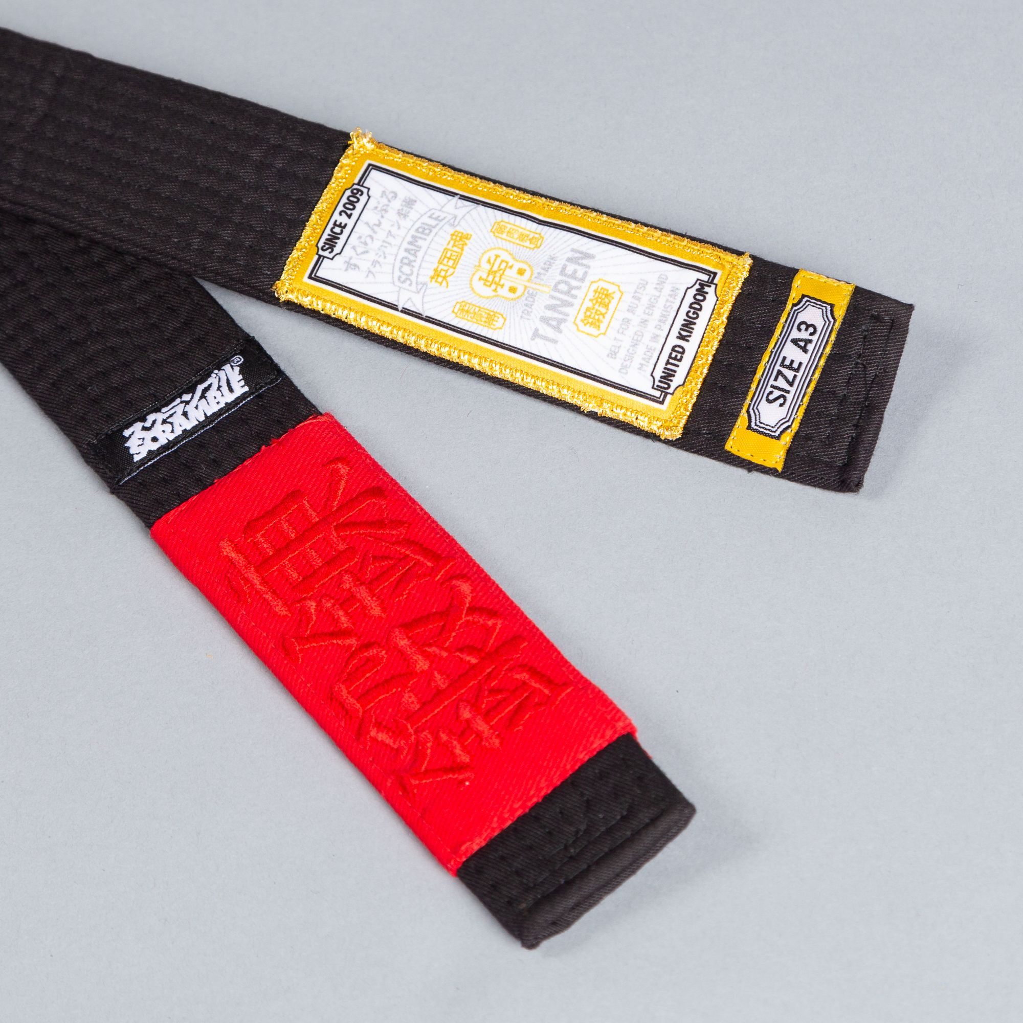 SCRAMBLE TANREN V4 BJJ BELT – BLACK