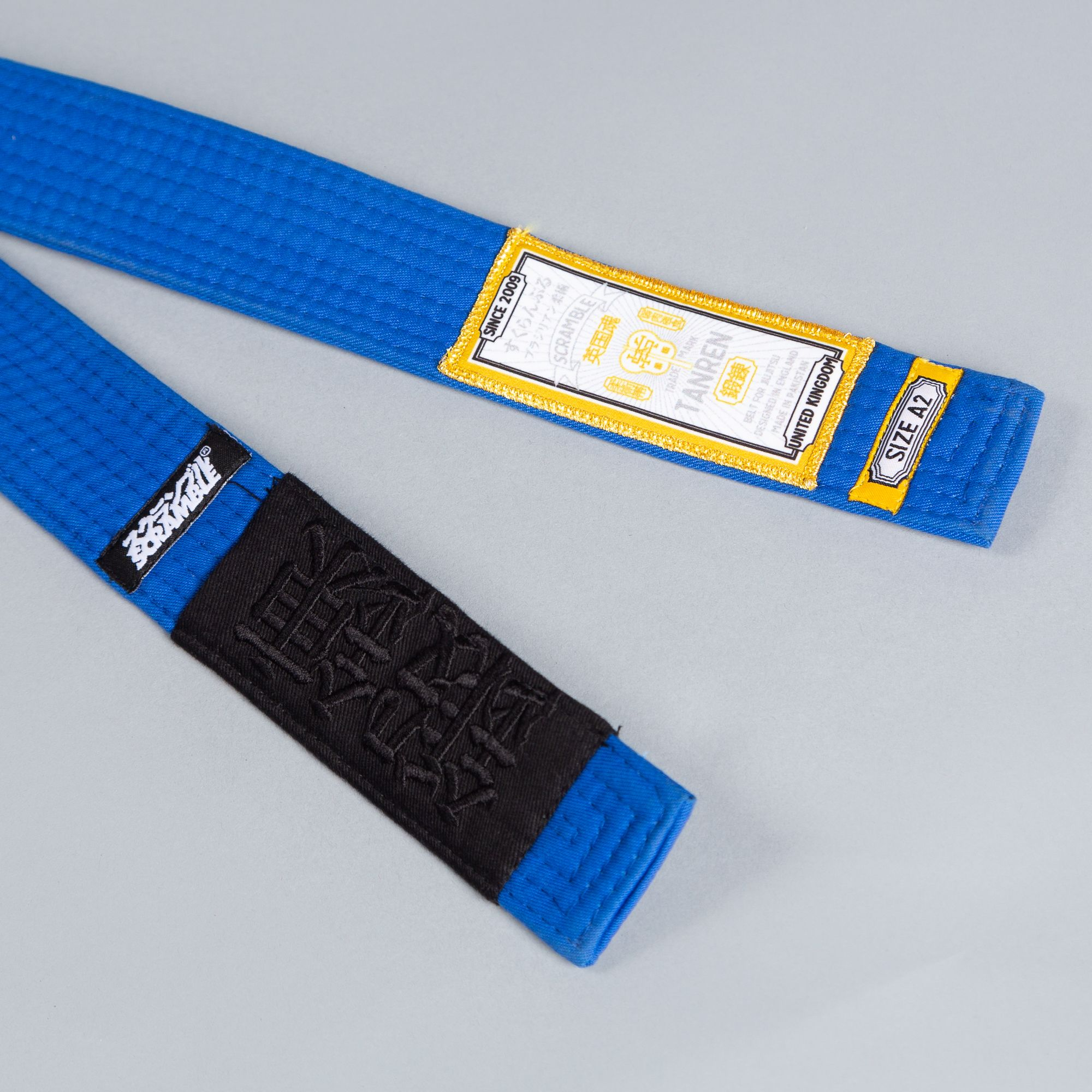 SCRAMBLE TANREN V4 BJJ BELT – BLUE