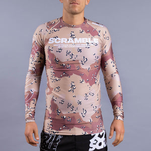 SCRAMBLE BASE RASHGUARD – CHOC CHIP