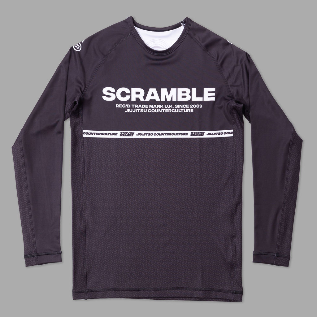 SCRAMBLE RANKED RASHGUARD V4 – BLACK