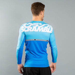 SCRAMBLE RANKED RASHGUARD V4 – BLUE